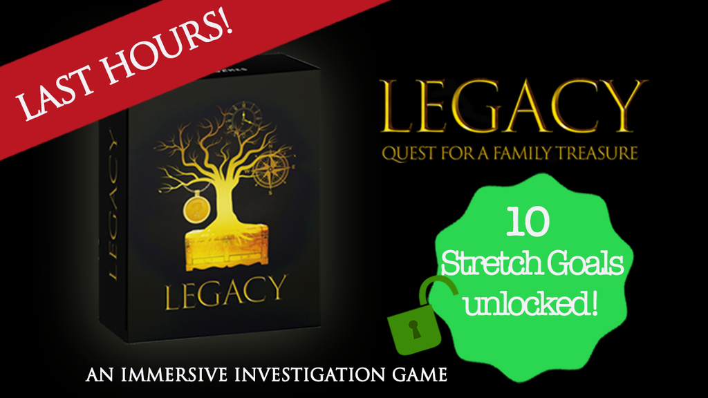 LEGACY: Quest for a Family Treasure - Escape box project video thumbnail