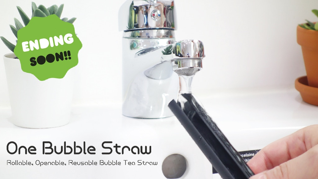 One Bubble Straw – Reusable straw for bubble tea lovers! project video thumbnail
