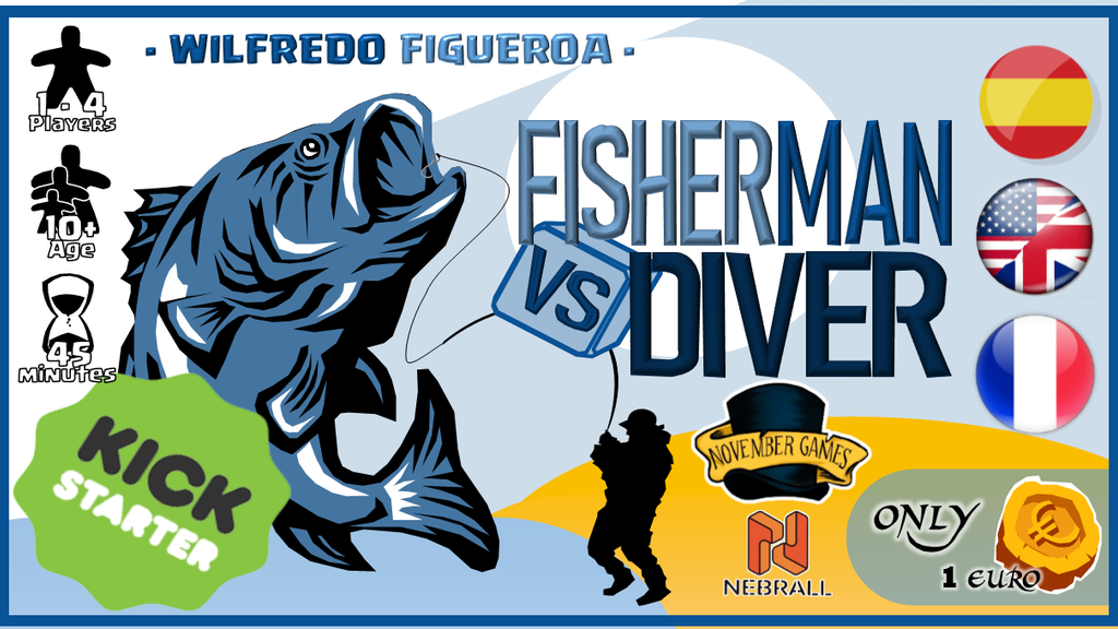 Board Game - Fisherman vs Diver - Roll&Write