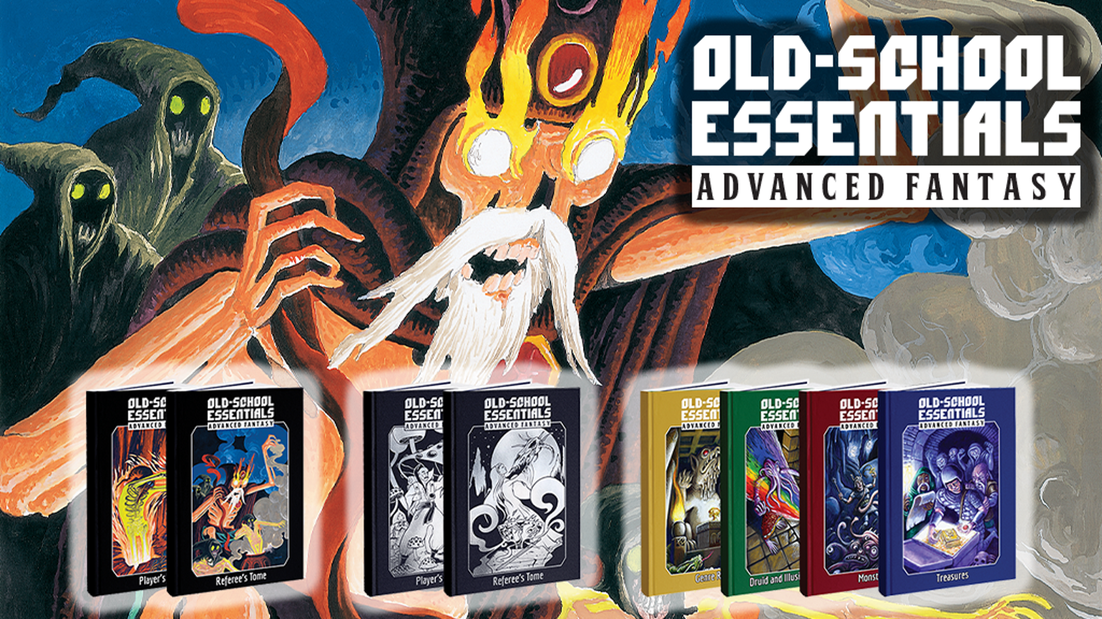 The essential old-school fantasy RPG, now expanded with advanced character options, magic, and monsters — plus 4 brand new adventures!