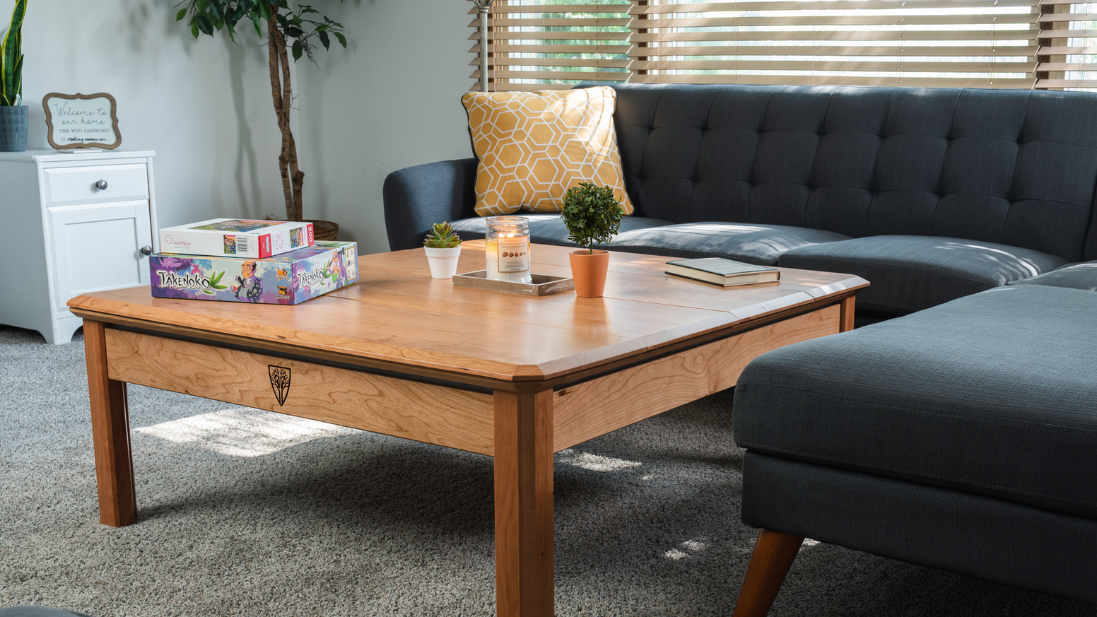 A revolutionary table that evolves over a lifetime. Innovative, yet affordable, with magnetic accessories. Crafted without compromise.
