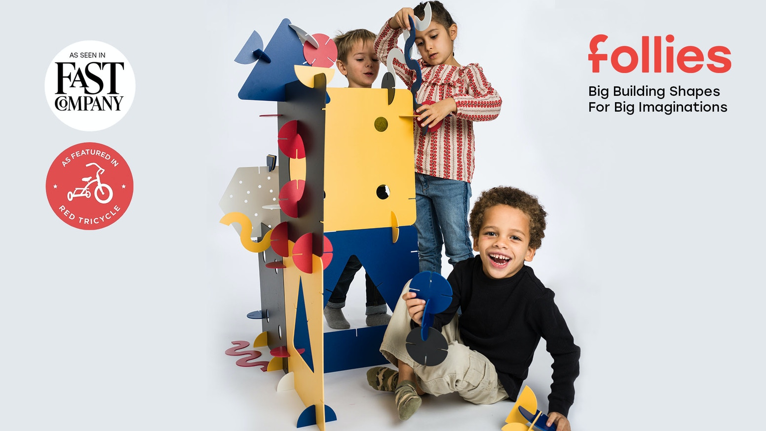 The Big Building Shapes For Big Imaginations. Ages 4+