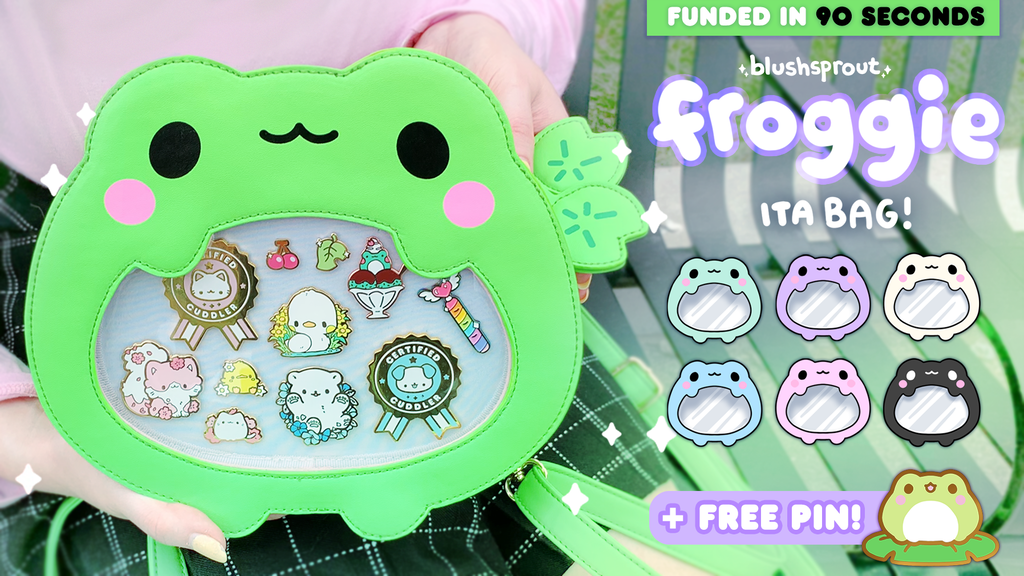 Project image for ★ Froggie Ita Bag + Enamel Pins! ★