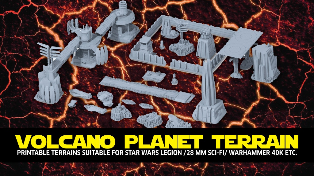 Project image for Printable terrain: STL files for Legion & Sci-Fi Game