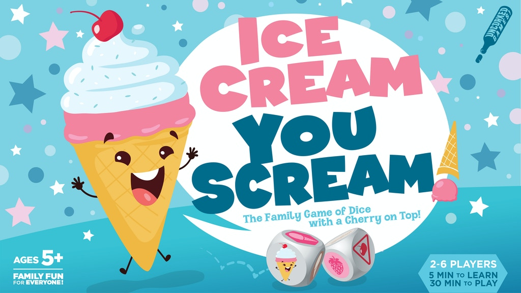 ICE CREAM YOU SCREAM! The Family Game of Dice, Holiday Gift! project video thumbnail