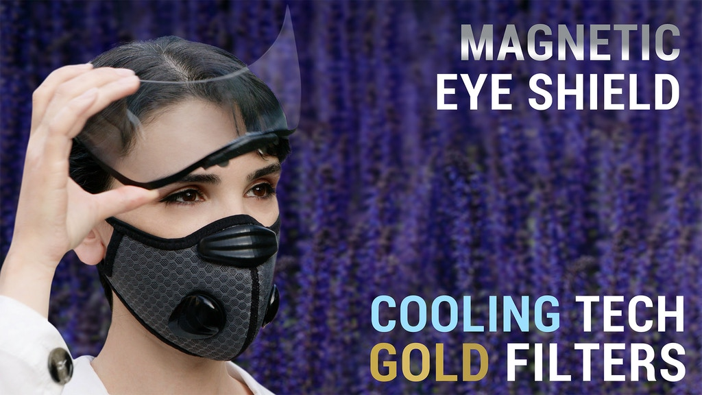 Breeze: the cooling face mask with gold and silver filters project video thumbnail