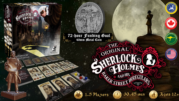 Immerse yourself in Conan Doyle's universe with this 1-5 player tabletop game that pays tribute to the Master Detective.