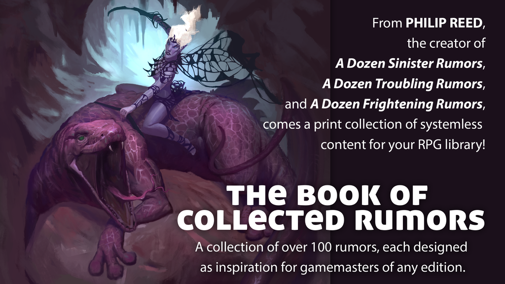 The Book of Collected Rumors, for use with Fantasy RPGs project video thumbnail