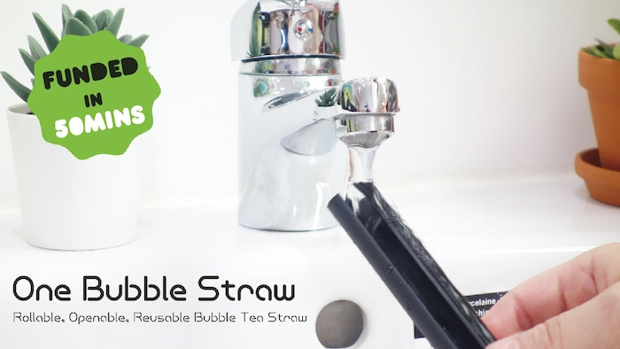 Perfect for drinking bubble tea. A patent-pending openable and reusable bubble tea straw.