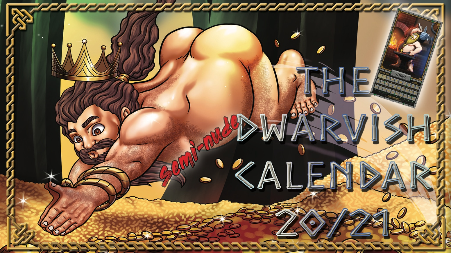 "Dwarves, on a Dwarvish Calendar... showing their ""best side"", just in time for Durin's Day"