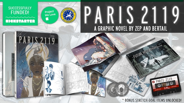 Black Mirror meets Blade Runner in this deluxe graphic novel by Zep and Dominique Bertail with exclusive variant cover by Peach Momoko. Missed the campaign? You can still pre-order your copy (as well as select other campaign rewards) through Backerkit!