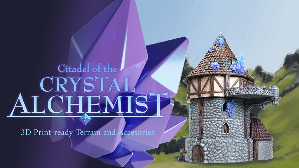 Citadel of the Crystal Alchemist - 3D Print Ready project video thumbnail