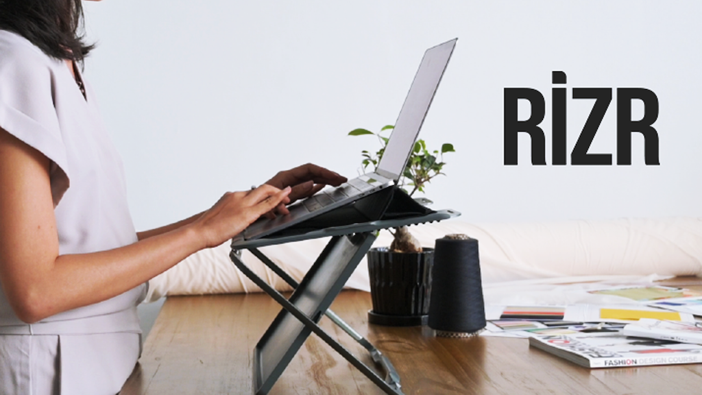 Rizr - A portable sit-stand desk & laptop case all-in-one!