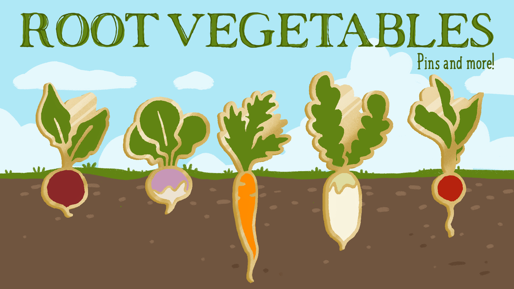 Project image for Root Vegetable Pins and more!
