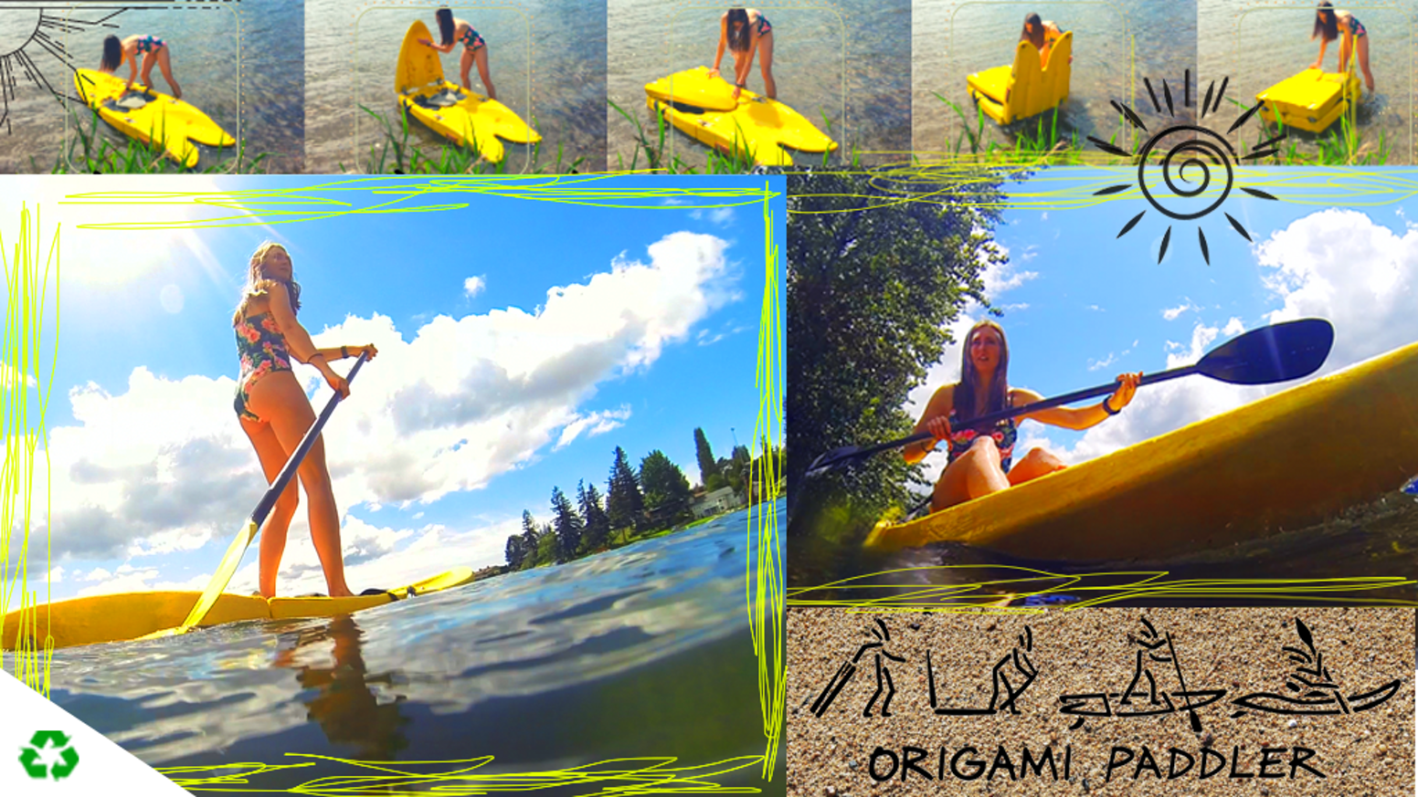 The World's Only Hard Shell Folding Stand-up Paddleboard and Kayak Combined