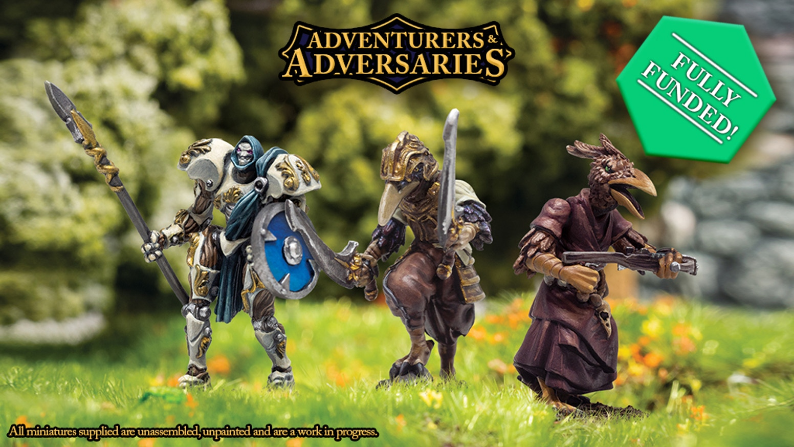 Modular  28mm Miniatures Kits - Humans, Orcs, Forged, Ravenkind, and Animal Companions great for DND, Pathfinder and other RPGs