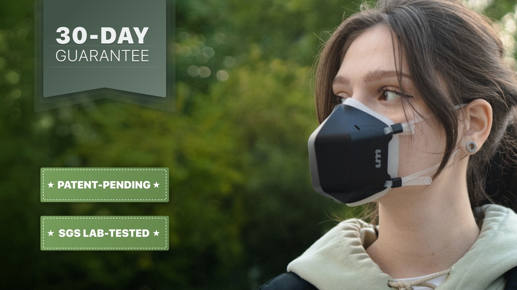 UVMask: All-Day Active UV-C Air Purification Face Mask project video thumbnail