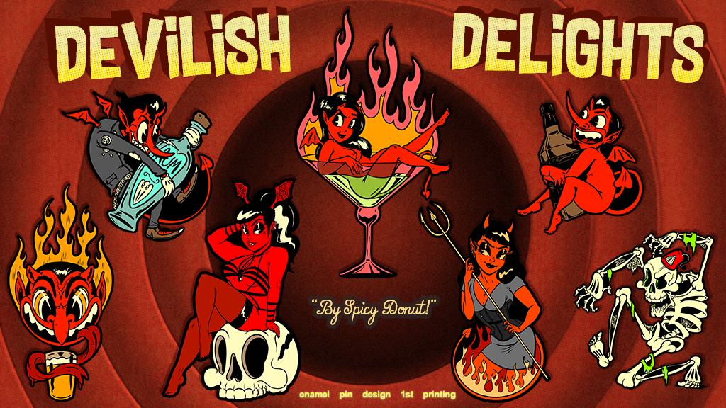 Devilish Delights Enamel Pin Series project video thumbnail