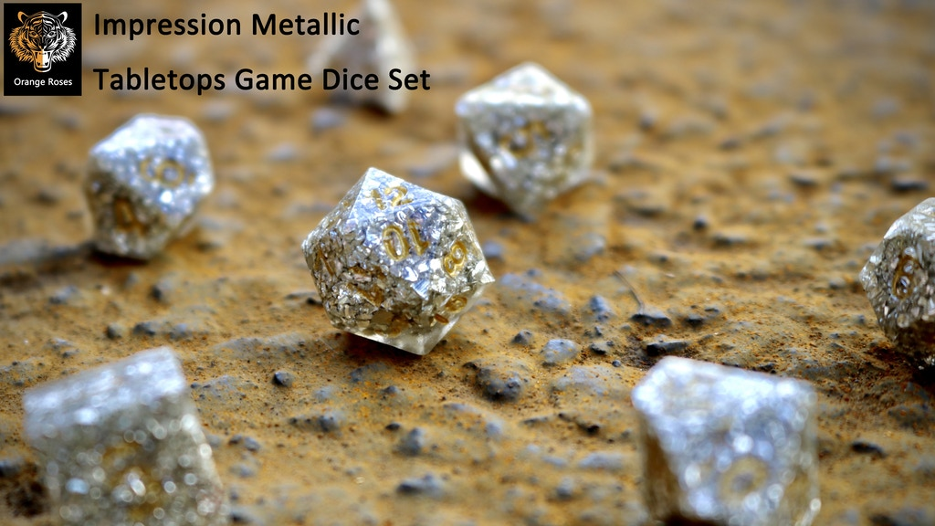 Designed-from-impression Metallic Tabletops Game Dice Set project video thumbnail