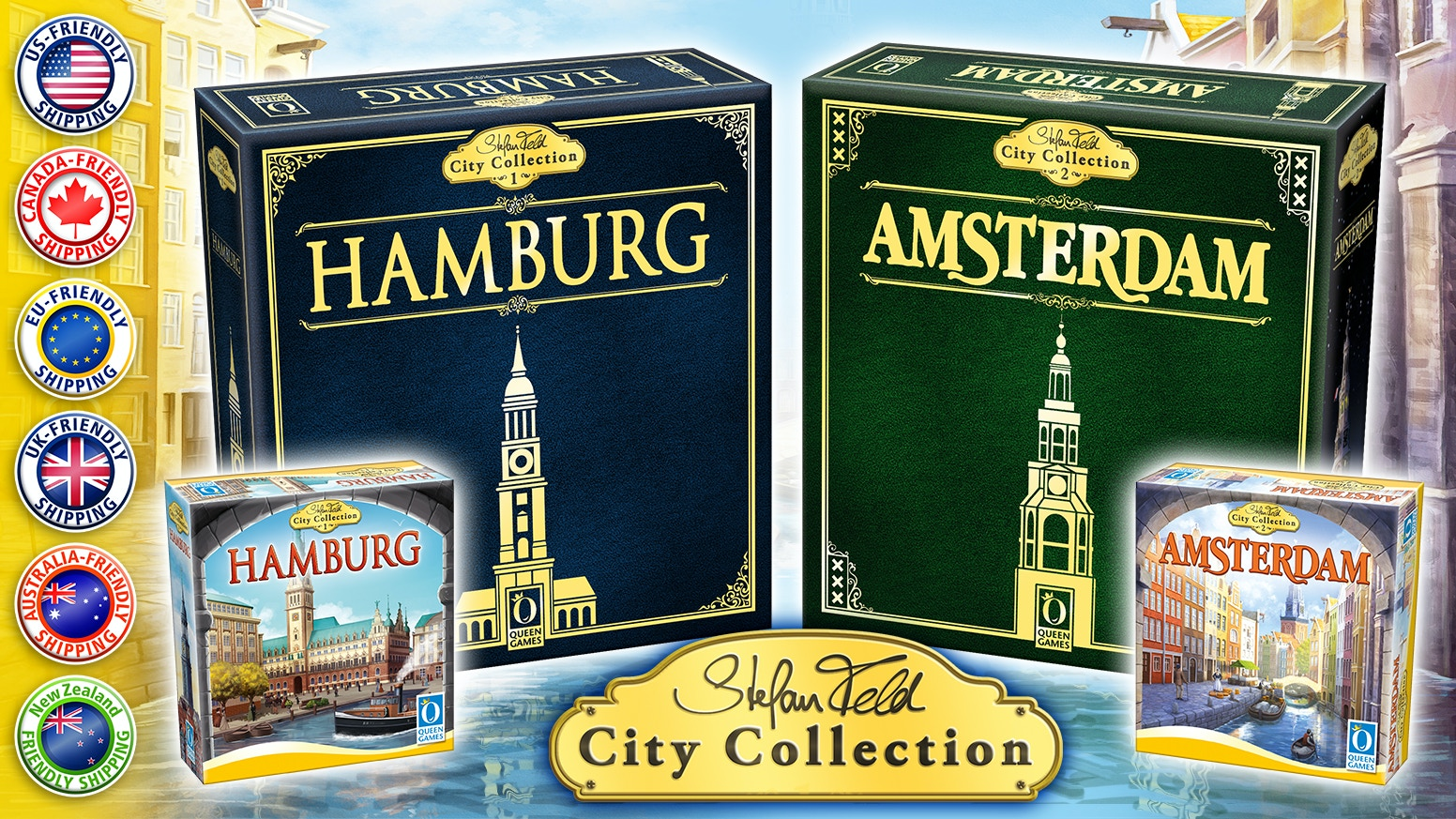 Hamburg & Amsterdam kick off the Stefan Feld City Collection which will expand over many years to come!