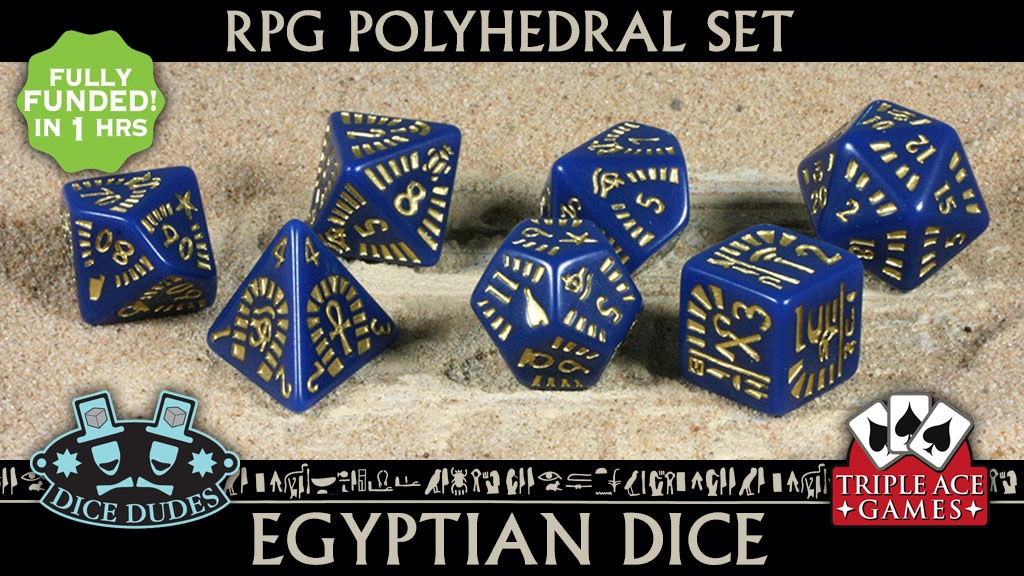 Polyhedral Dice Set: 7 Egyptian Dice project video thumbnail