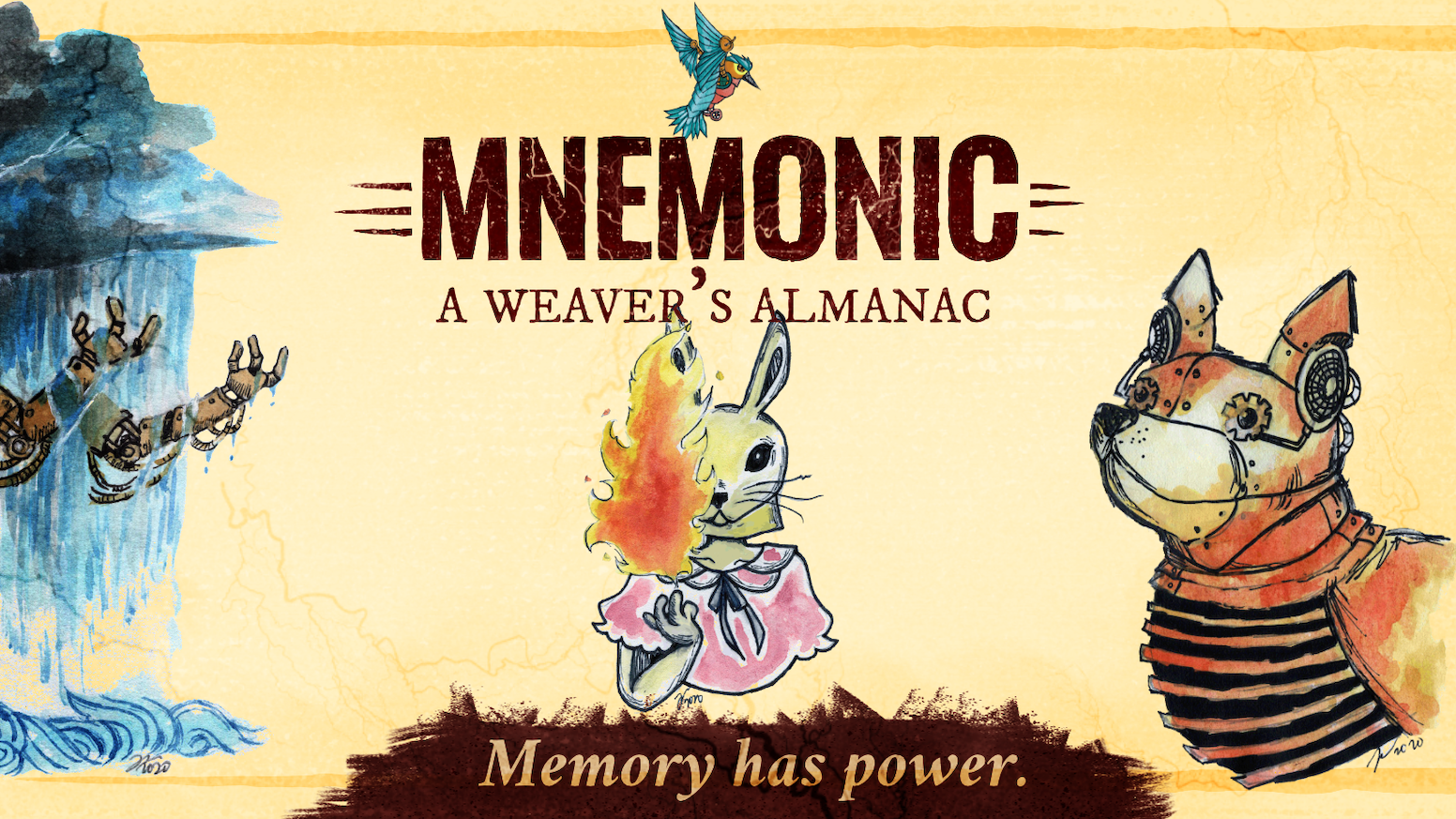 A core rulebook and setting guide for the fantasy world of Mnemonic.