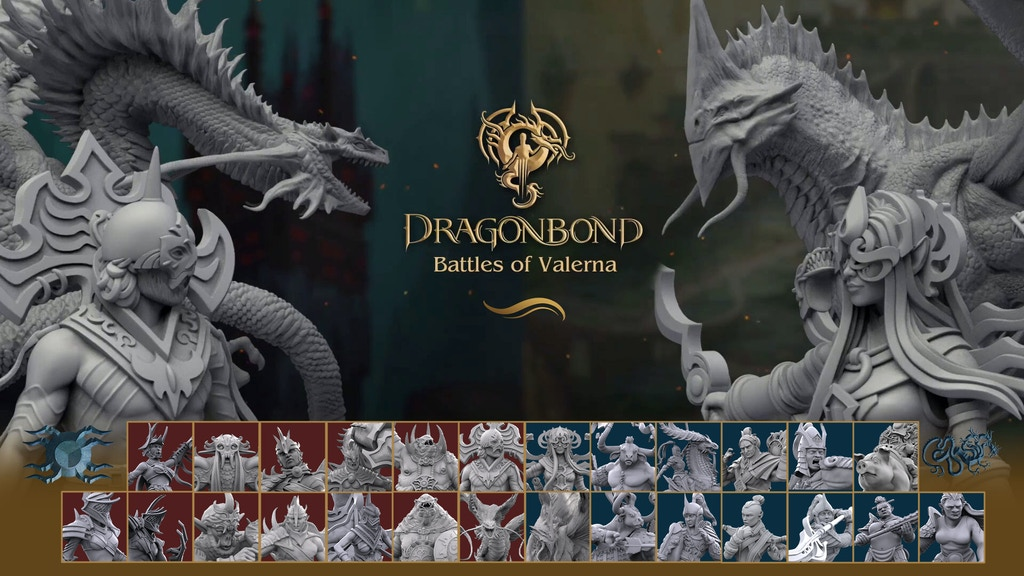 Dragonbond: Battles of Valerna 3D STL - Allaria & Tyveria project video thumbnail