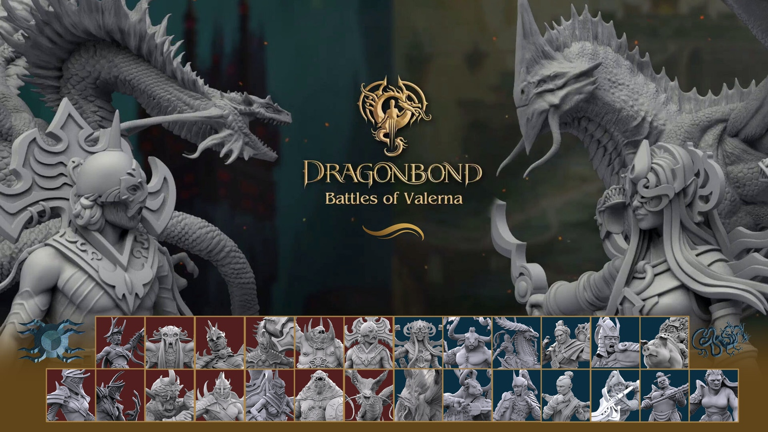 Full wargame experience in the Dragonbond universe. High definition STL files for 3D printing, RPG, wargaming, collectibles.