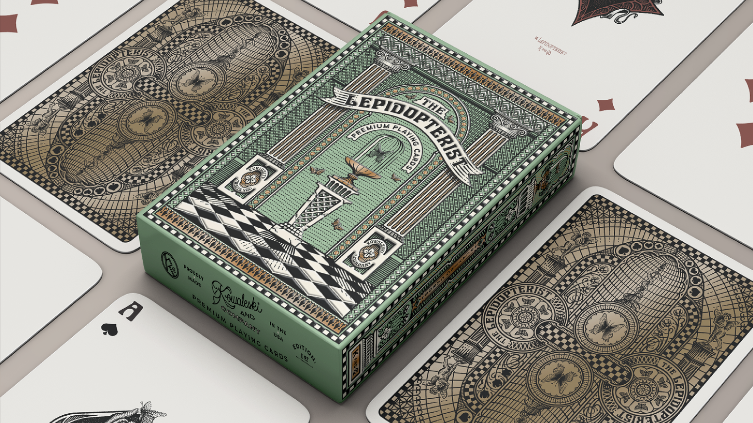 Beautiful, custom playing cards inspired by the elegant Art Nouveau era of the early 1900's.