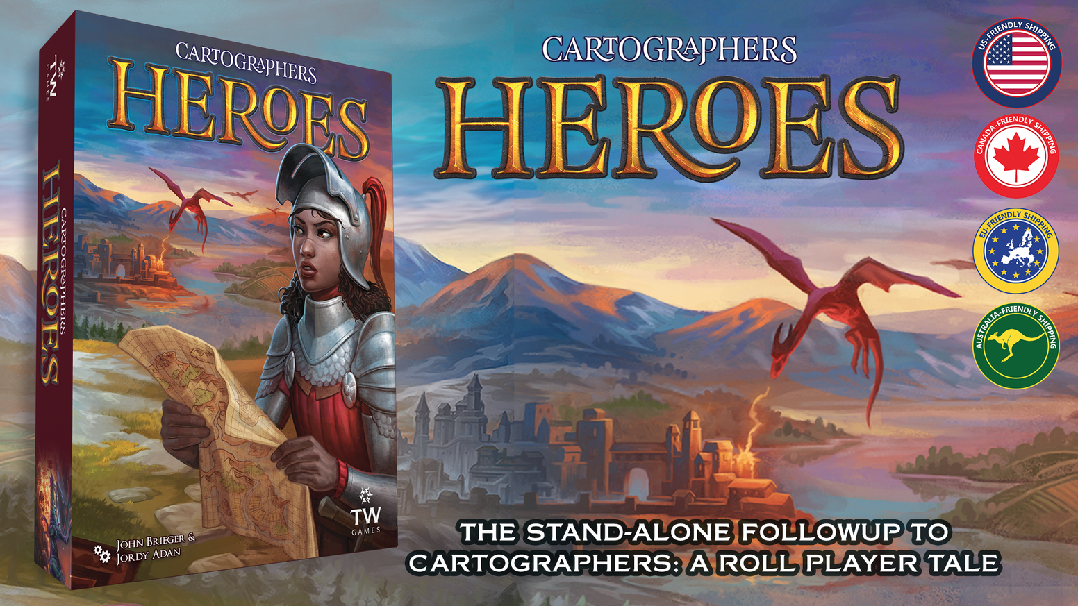 The stand-alone follow up to the critically acclaimed map-drawing game - Cartographers: A Roll Player Tale.