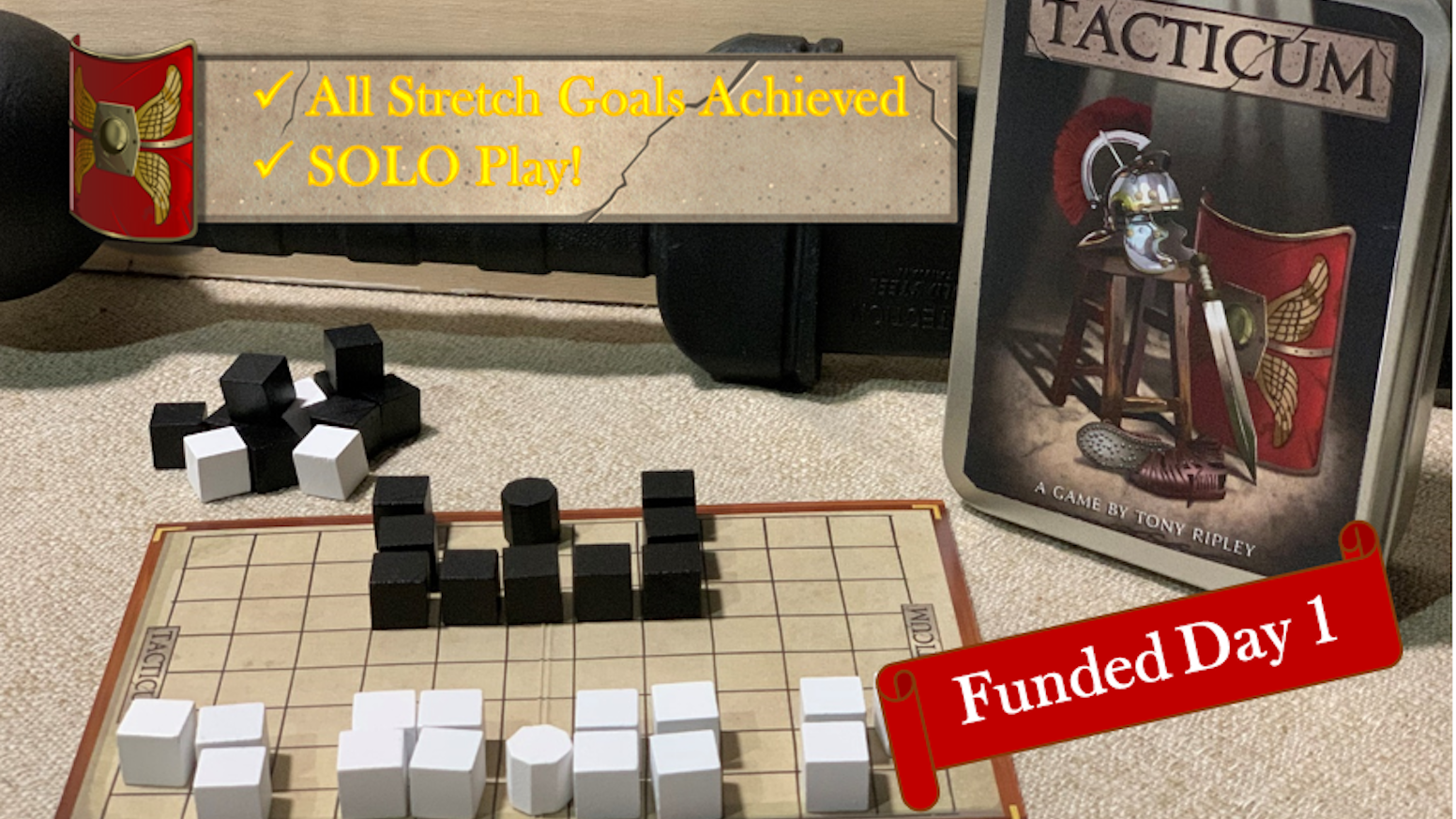 Welcome Centurion candidate, will you master the tactics of battle?   2 player, multi-scenario strategy game...in a travel tin! LATE PLEDGES? CLICK THE LINK!