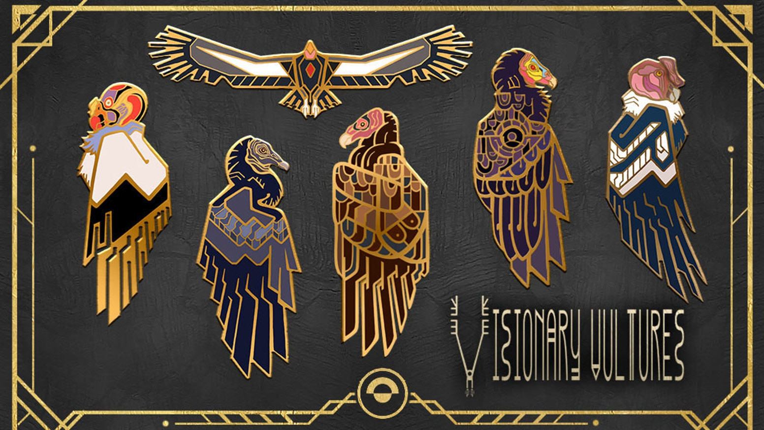 A stunning collection of pins celebrating the New World vulture family and supporting awareness of endangered vulture conservation.