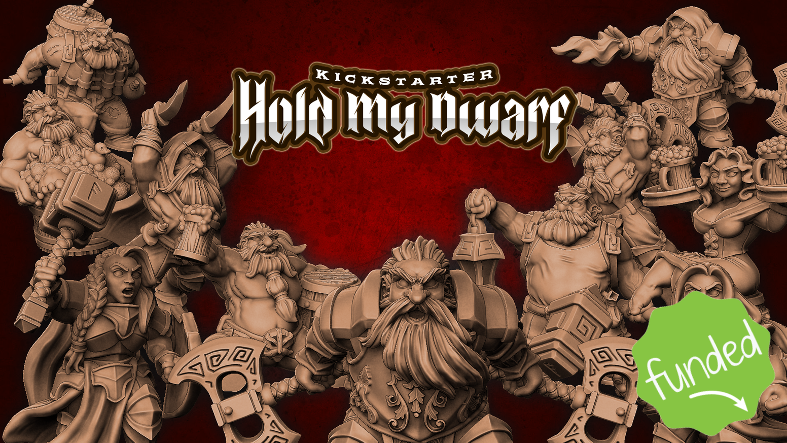 60+ High quality 3d printable Dwarf miniatures (32mm) for your gaming table!