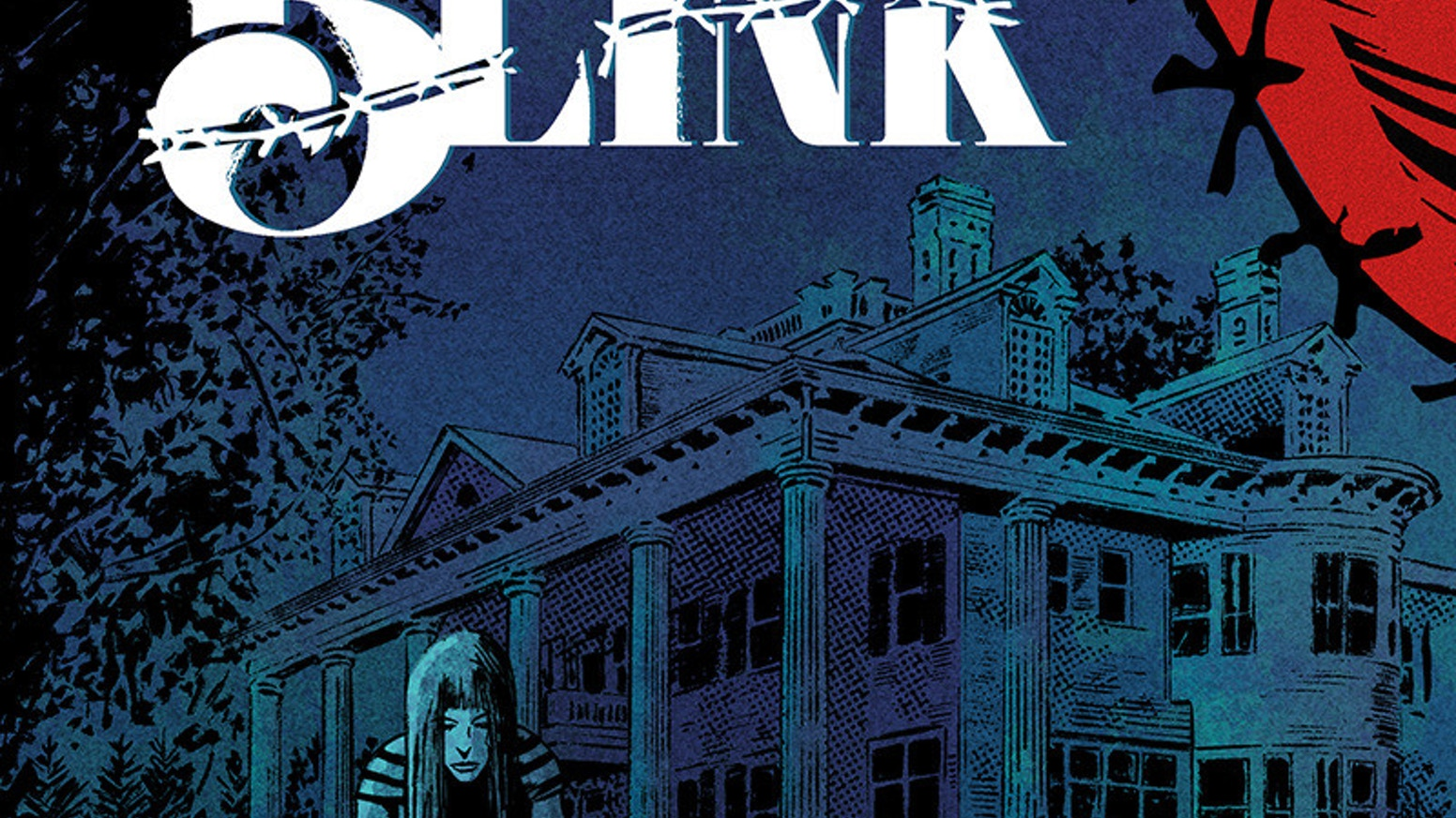 The first issue of a limited horror comic book series about a killer that sews the eyelids of victims shut, stalking a small town.