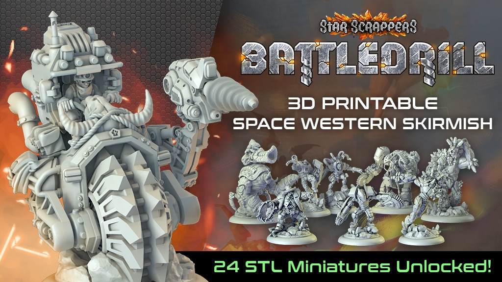 Star Scrappers: Battledrill - 3D Printable Skirmish (STL) project video thumbnail