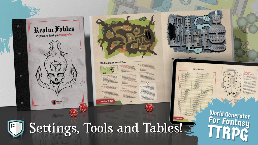 Project image for Realm Fables: TTRPG World Generator & Preformed Settings