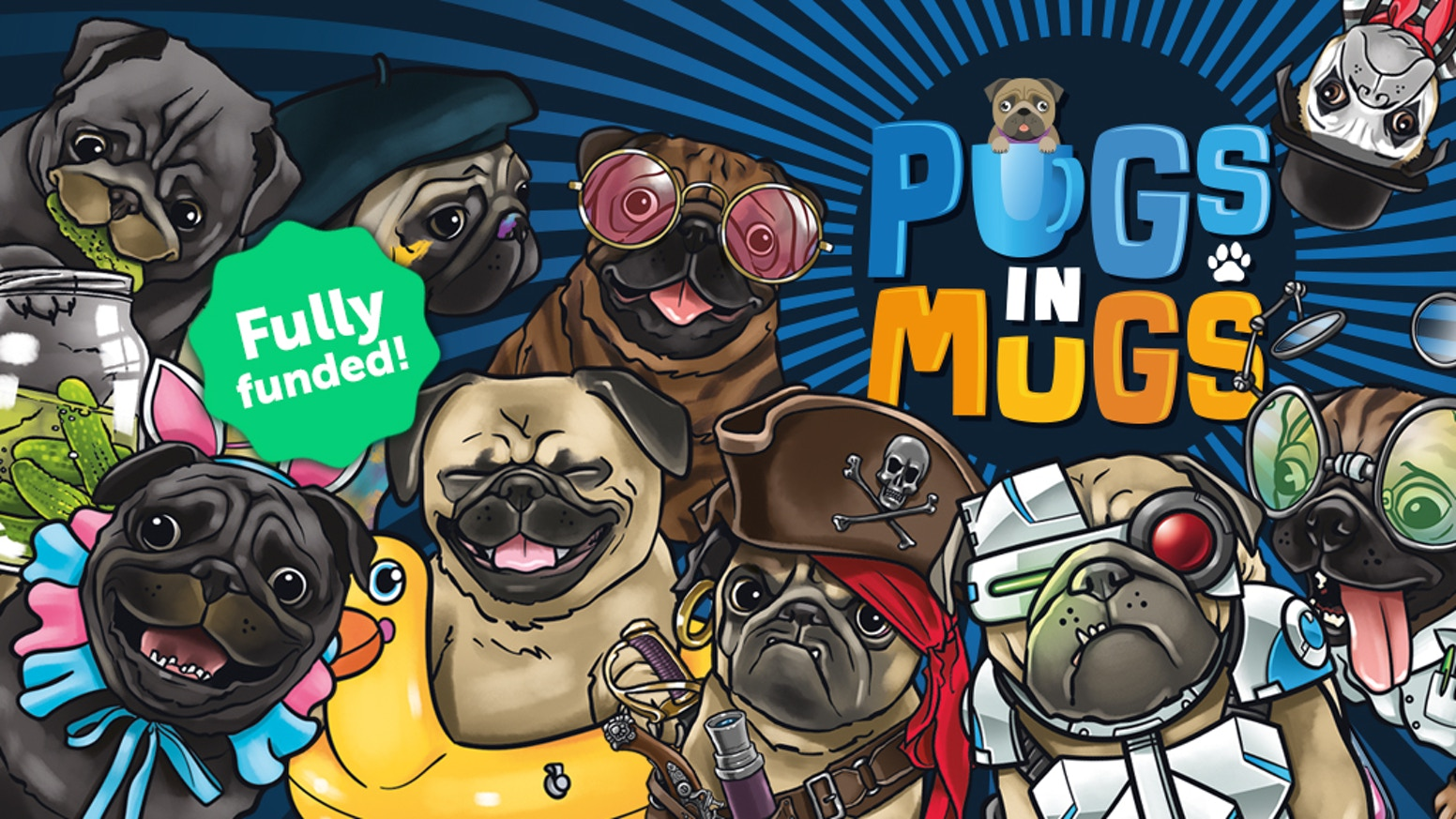 A high speed card game for people who like small dogs, bright colours and way too much mischief!