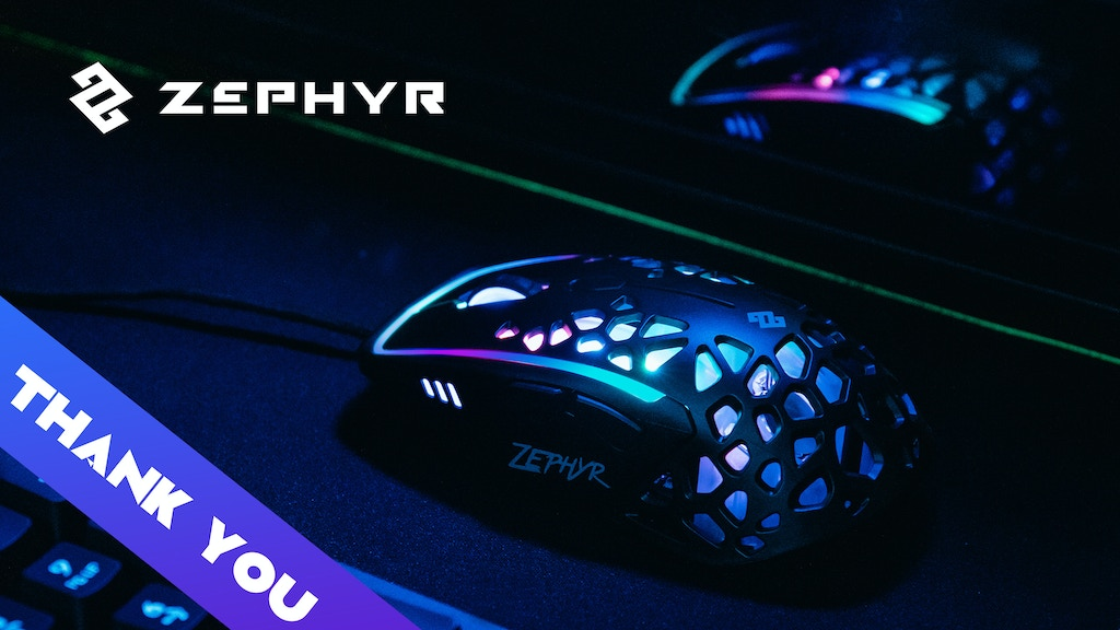 Zephyr Gaming Mouse: built-in fan so no more sweaty palms project video thumbnail