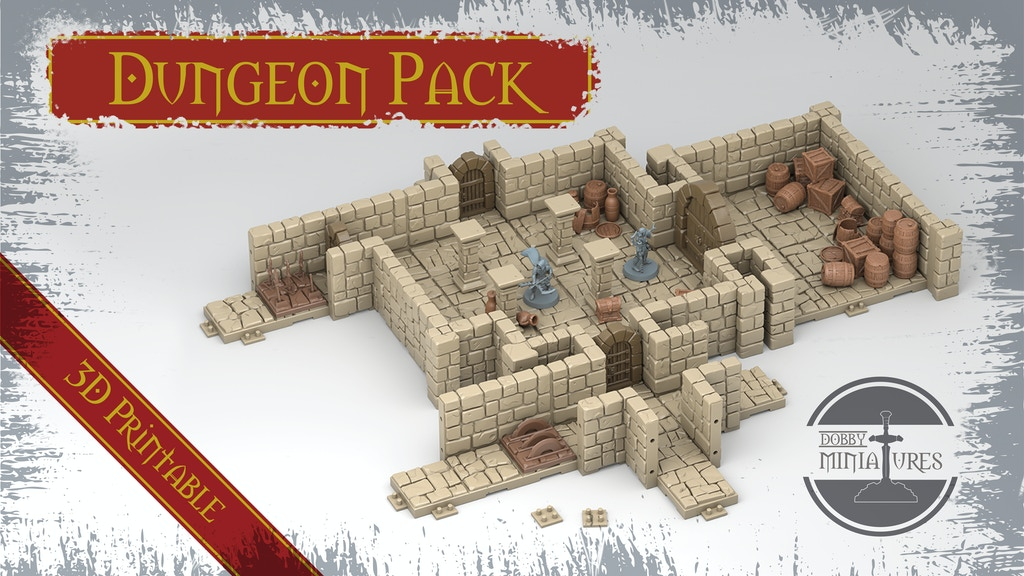 Project image for Dungeon Pack 3D STL Printable Fantasy Scenery and Miniatures