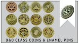 DUNGEONS AND DRAGONS CLASS TOKEN COINS AND ENAMEL PINS thumbnail