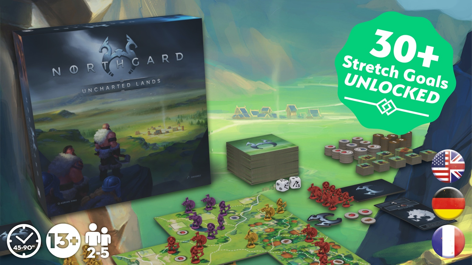 A streamlined 4X board game based on Norse Mythology
