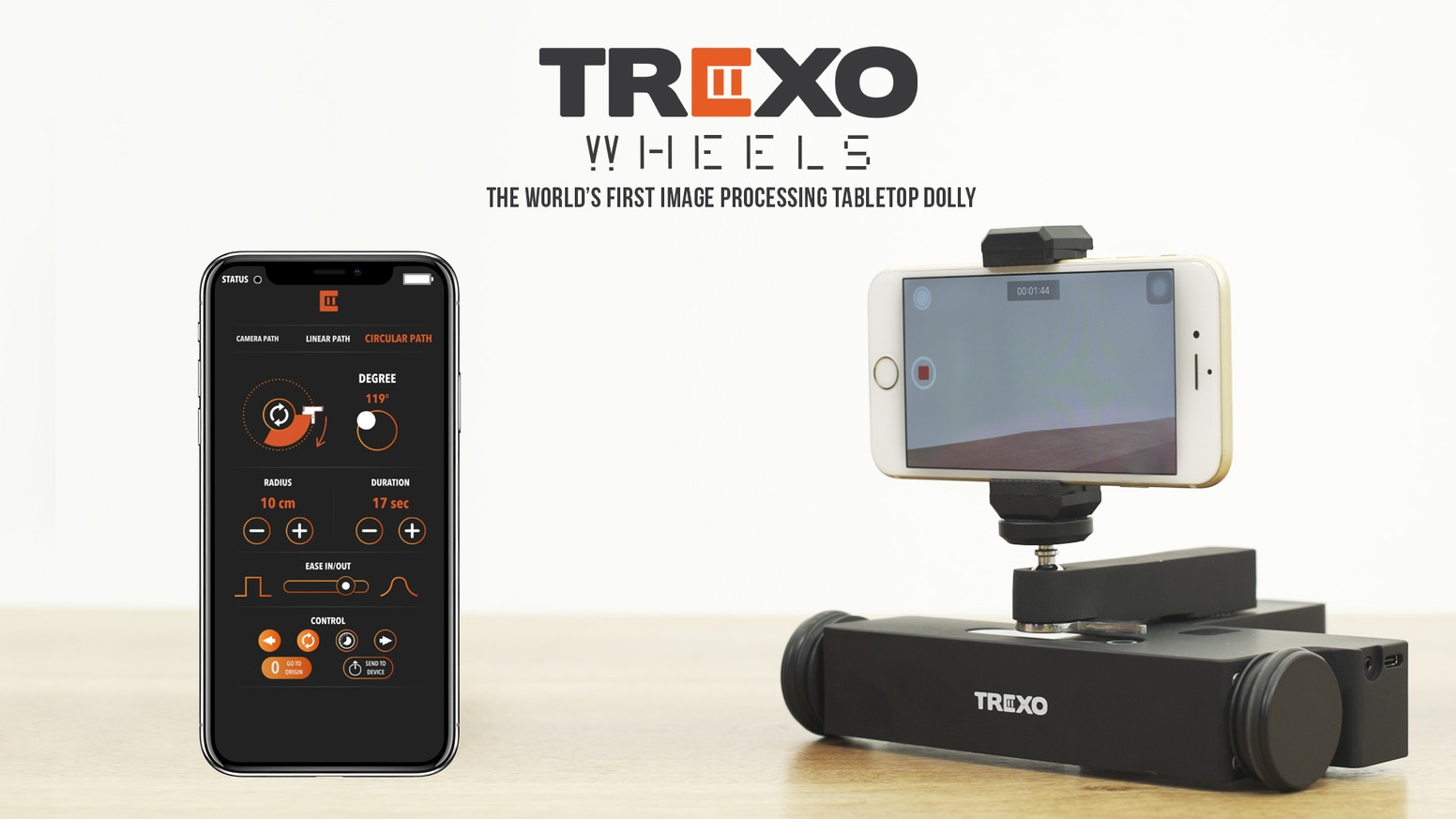 Trexo Wheels | World's first Table Top Dolly equipped with Image Processing