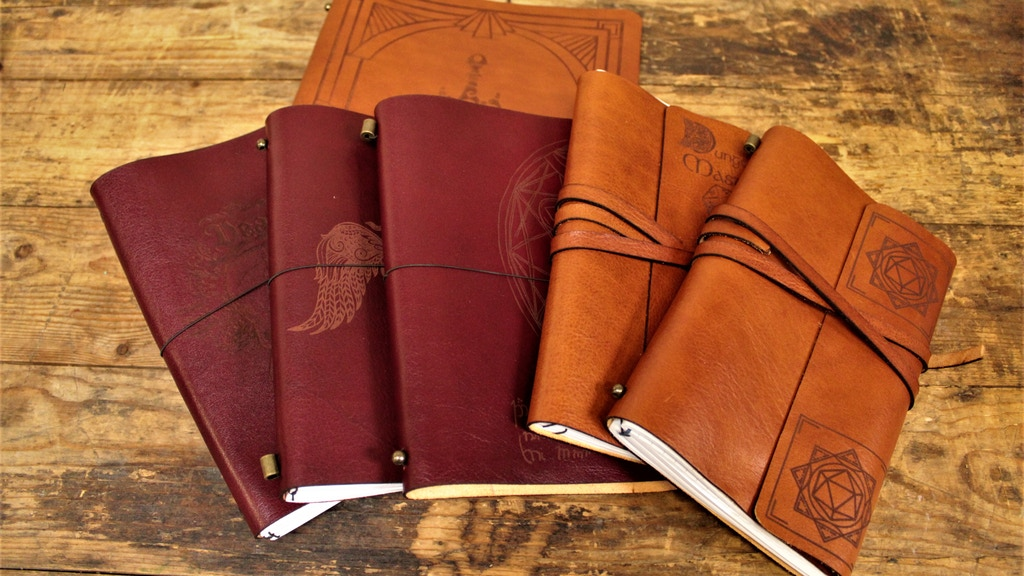 Project image for Refillable Leather Notebooks For Gamers & Geeks