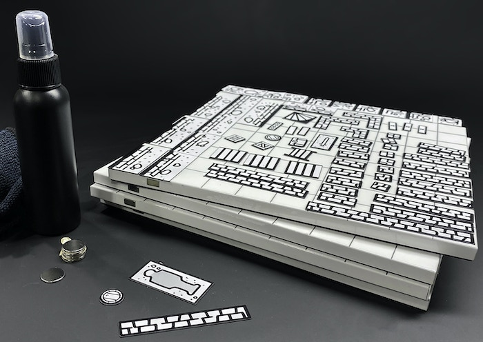 Th Mimic's Grid is a high-end modular game tile with magnetics, a futuristic Any Erase surface, and the support of talented artists and creators.