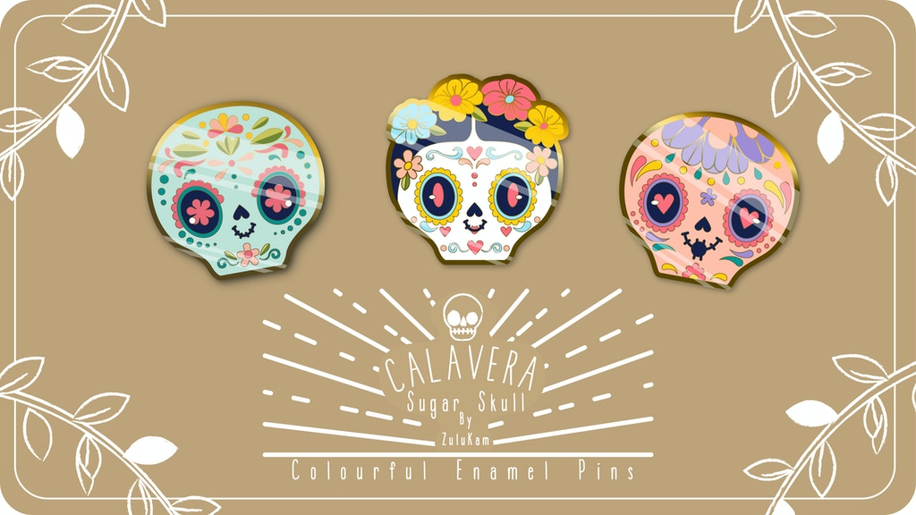 Project image for Sugar Skull Enamel Pins