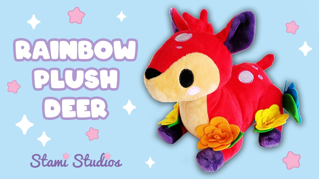 Project image for Rainbow Deer Plush Soft Toys