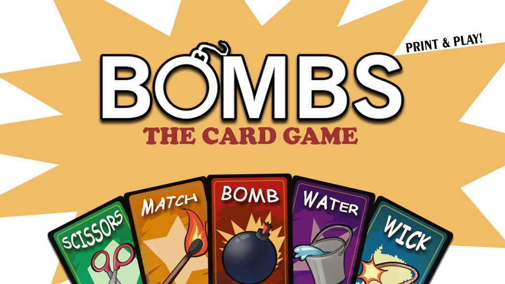 Project image for BOMBS: the card game.