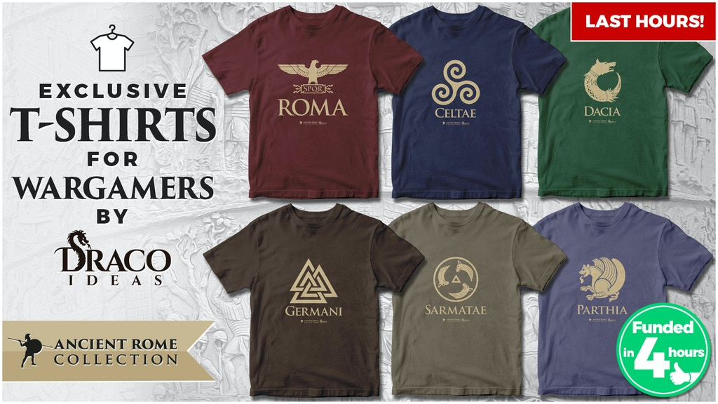 Ancient Rome T-shirts for wargamers project video thumbnail