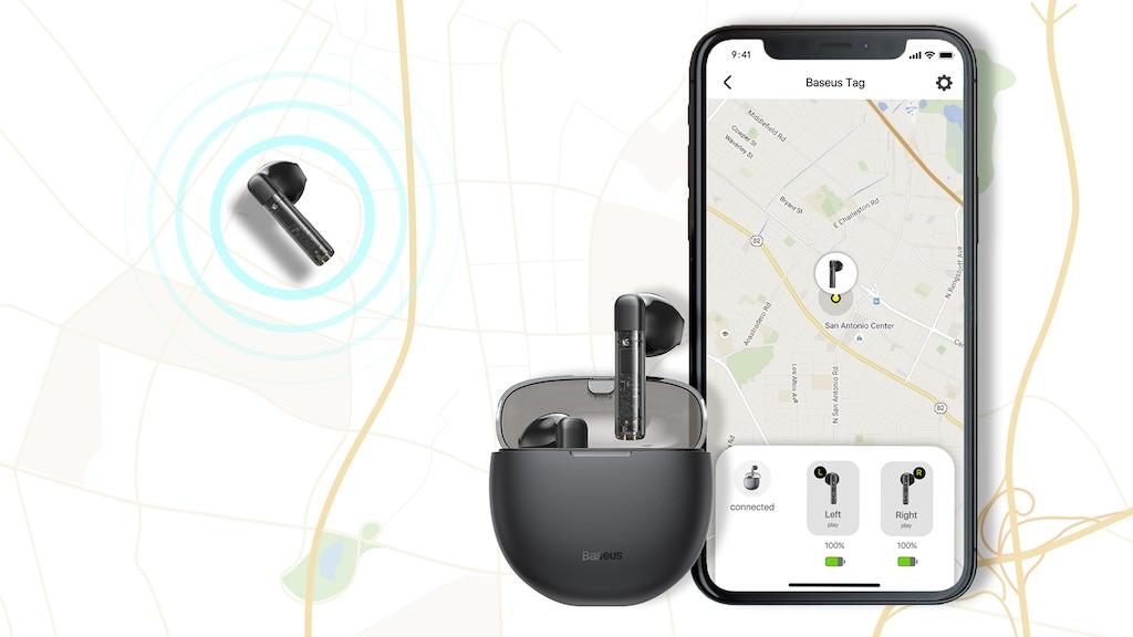 Baseus Tag: Trackable HiFi TWS Earbuds w/ Dual BT Mode