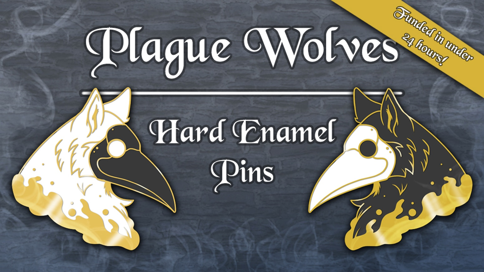 Plague Wolf Hard Enamel Pins